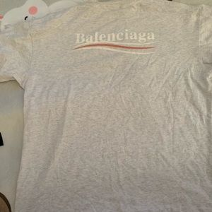 Balenciaga grey logo t shirt size medium